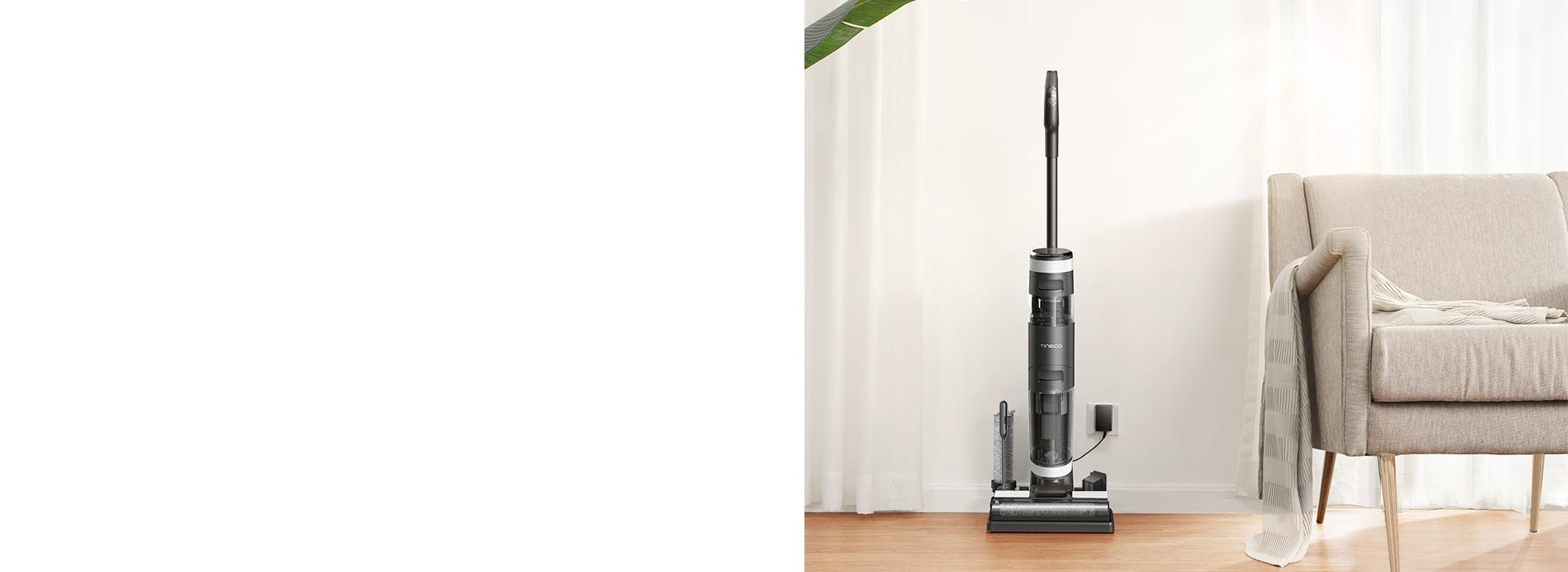 avec fonction d/'optimisation de la puissance d/'aspiration et du d/ébit d/'eau pour le nettoyage des sols durs Aspirateur nettoyeur sans fil intelligent Tineco Floor One S3 l/éger